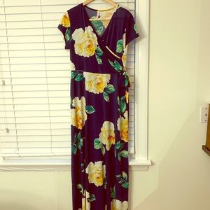 Never worn ModCloth floral Maxi